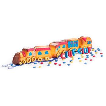 Foremka do pieczenia babeczek w kształcie lokomotywy Pavoni