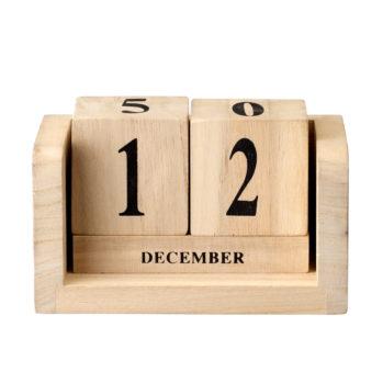 Drewniany kalendarz - kostki od Bloomingville