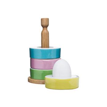 Kieliszki do jajek ze stojakiem Sagaform