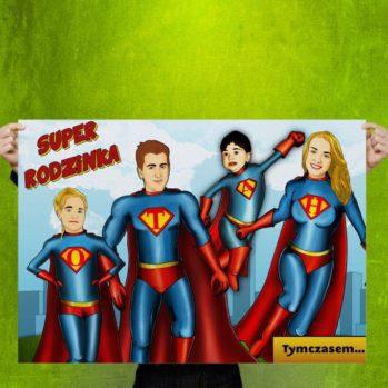 Personalizowany obraz na płótnie – Super rodzinka