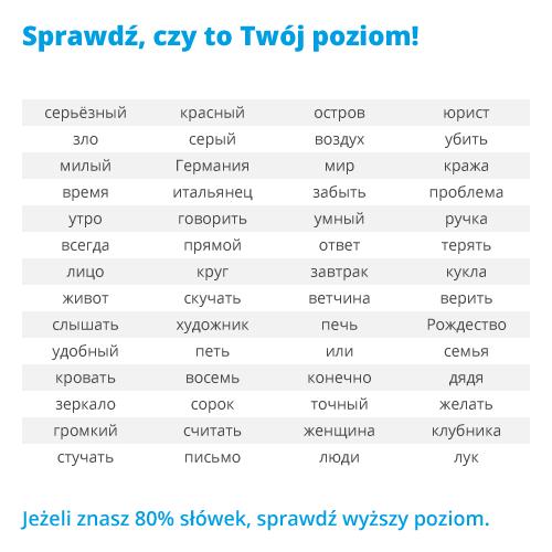 Fiszki Jezyk Rosyjski Slownictwo 1 Udanyprezent Eu