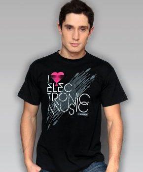 Koszulka I love electronic music