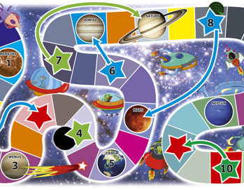 Gra planszowa Kosmiczna Podróż 137x90cm