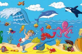 Zestaw naklejek - Ocean XL 250x100cm