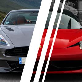 Aston Martin DB9 vs. Ferrari Italia - Tor Ułęż - 6 Okrążeń