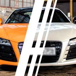 Audi R8 V8 vs. Audi R8 V10 - Tor Borsk - 6 Okrążeń