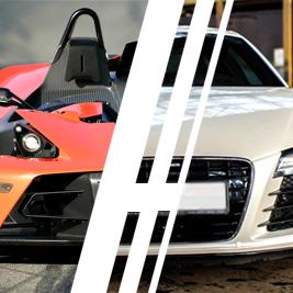 Audi R8 V8 vs. KTM X-Bow - Tor Ułęż - 6 Okrążeń
