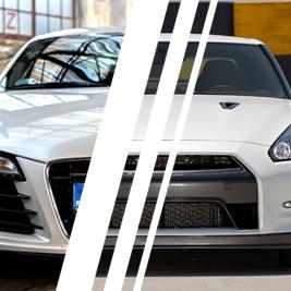 Audi R8 V8 vs. Nissan GTR - Tor Jastrząb - 2 Okrążenia