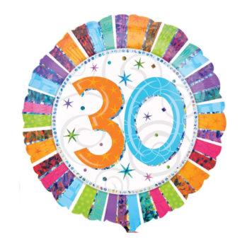 """Balon z helem """"30 urodziny"""""""