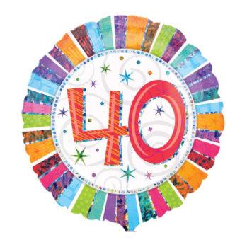 """Balon z helem """"40 Urodziny"""""""