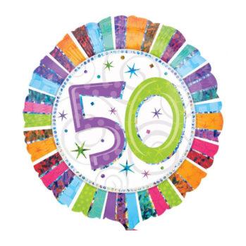 """Balon z helem """"50 urodziny"""""""