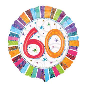 """Balon z helem """"60 Urodziny"""""""
