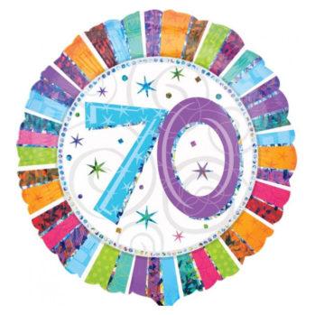 """Balon z helem """"70 urodziny"""""""