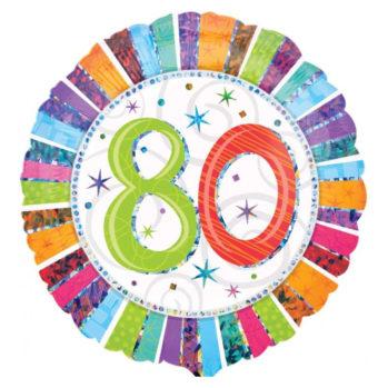 """Balon z helem """"80 Urodziny"""""""