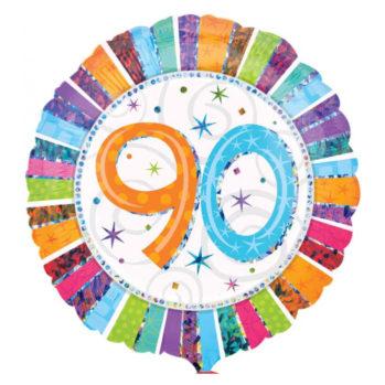 """Balon z helem """"90 urodziny"""""""