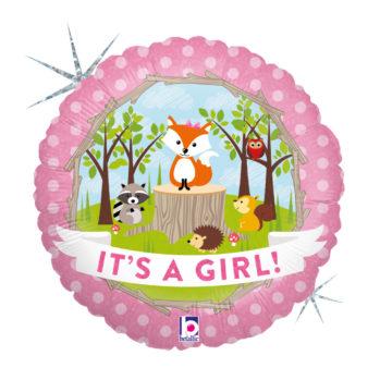 Balon z helem It's a girl