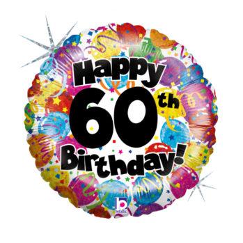 Balon z helem Happy Birthday - 60 Urodziny