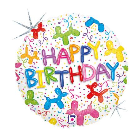"""Balon z helem """"Happy Birthday"""" - Na Urodziny"""