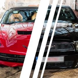 Corvetta C7 vs. Ford Mustang (14') - Tor Ułęż - 6 Okrążeń