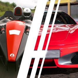 Ferrari F430 vs. Ariel Atom - Tor Kamień Śląski - 6 Okrążeń