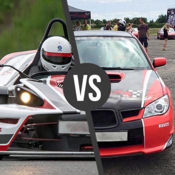 KTM vs. Subaru Impreza WRX - Tor Poznań Karting - 6 Okrążeń