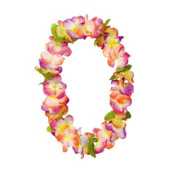 Kolorowy naszyjnik z kwiatów