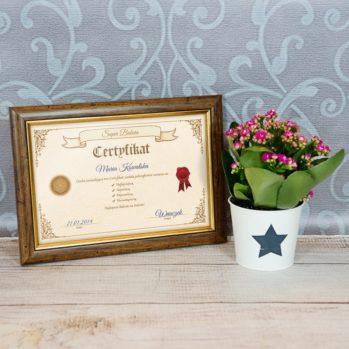 Certyfikat - Super Babcia - Certyfikat obramowany 20x30cm