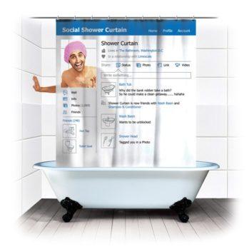Facebookowa zasłona prysznicowa