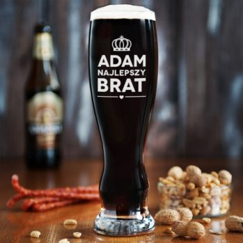 Najlepszy brat - Grawerowana Szklanka do piwa - Szklanka do piwa