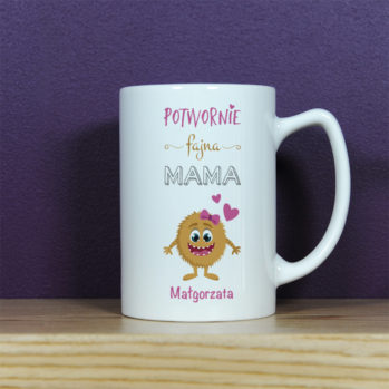 Potwornie fajna mama - kubek personalizowany - Kubek Latte